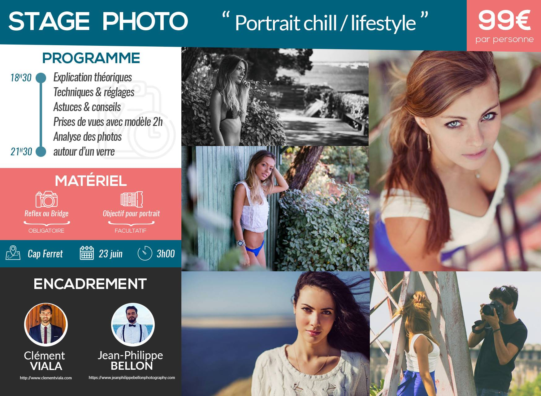 Cours photo : le portrait en mode lifestyle/chill au Cap Ferret