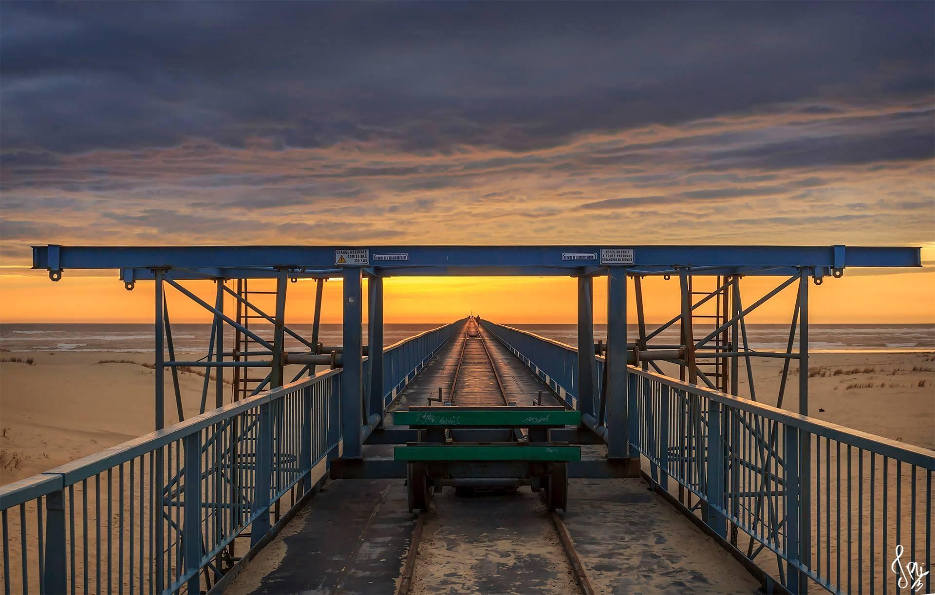 Coucher de soleil sur le Wharf