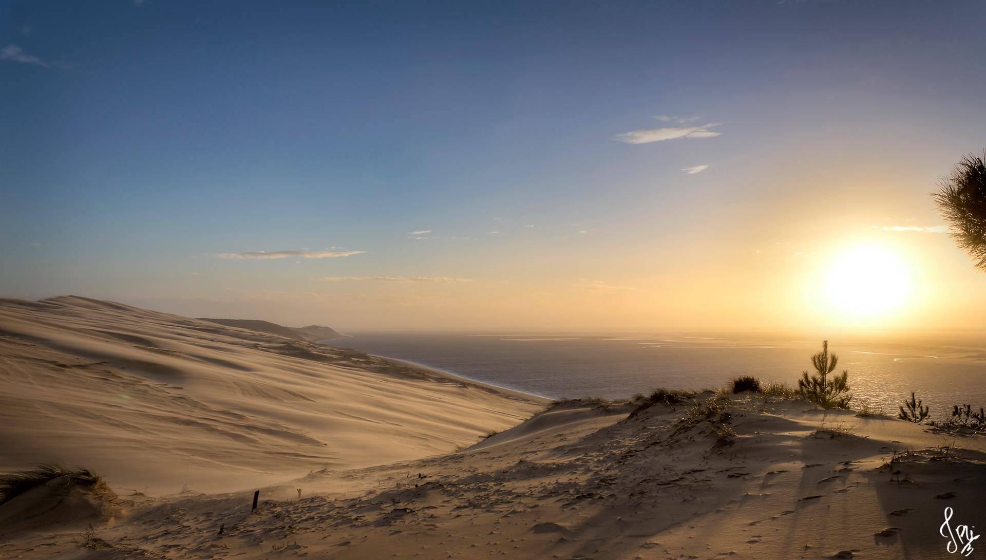 Coucher de soleil depuis la corniche (Dune du Pilat)