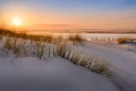 Photo : Douceur du coucher du soleil sur la Dune