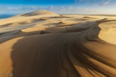 Photo : Après la tempête Leiv sur la Dune du Pilat